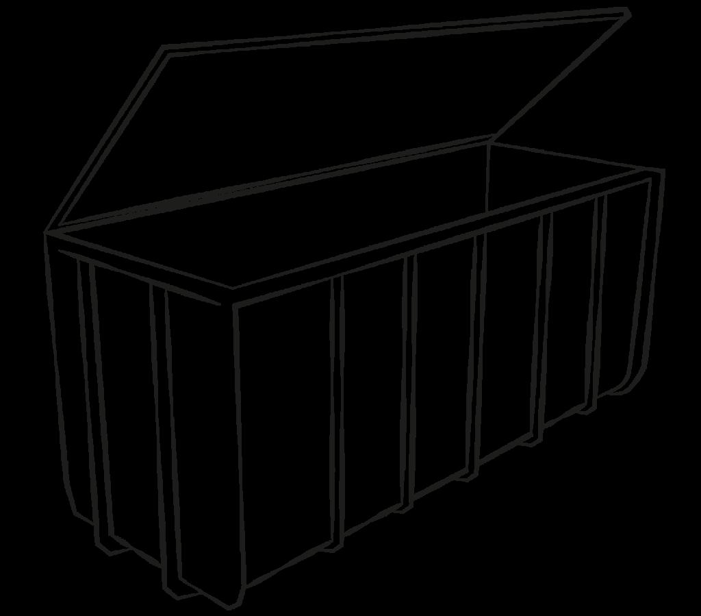 container mitdeckel gros