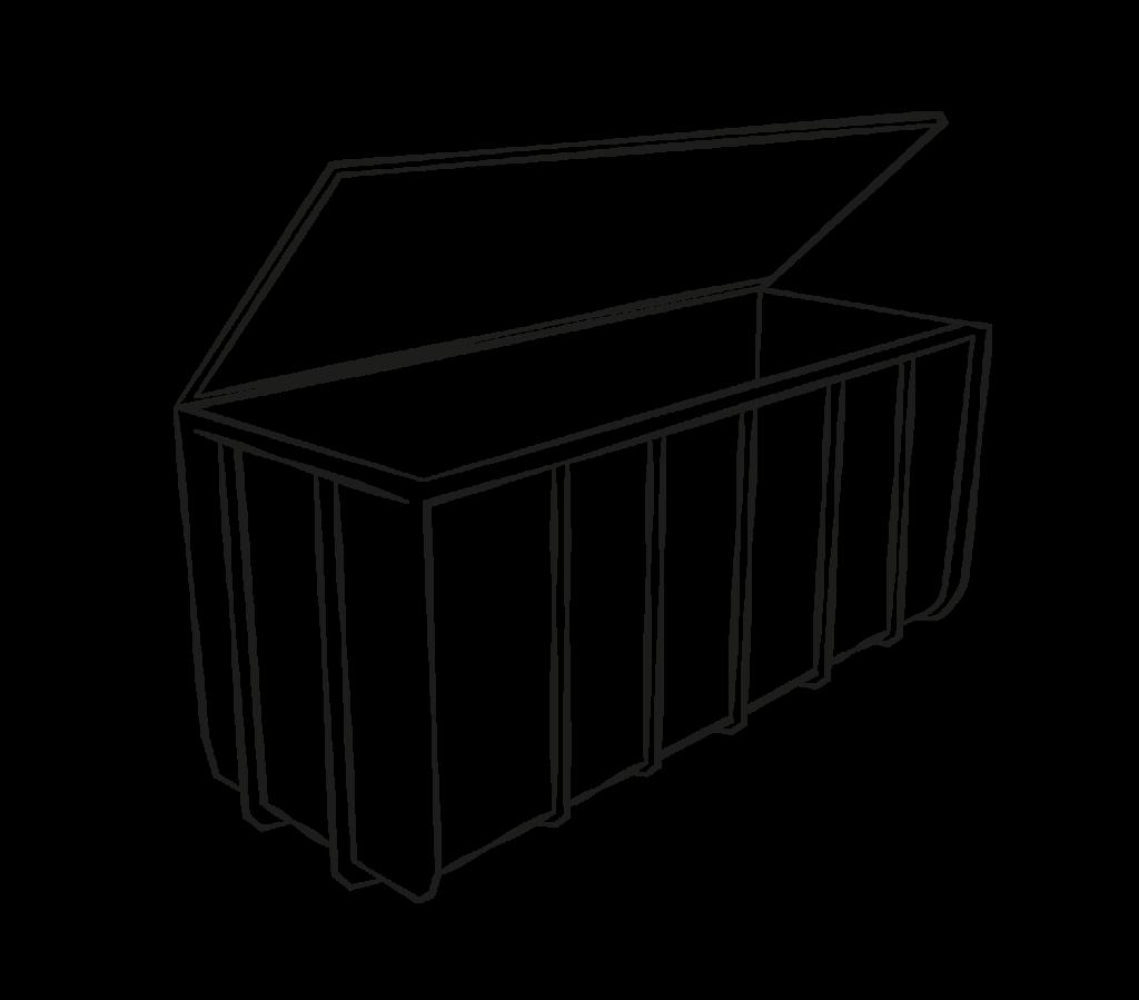 container mitdeckel mittel
