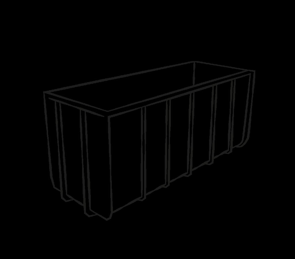 container ohnedeckel mittel