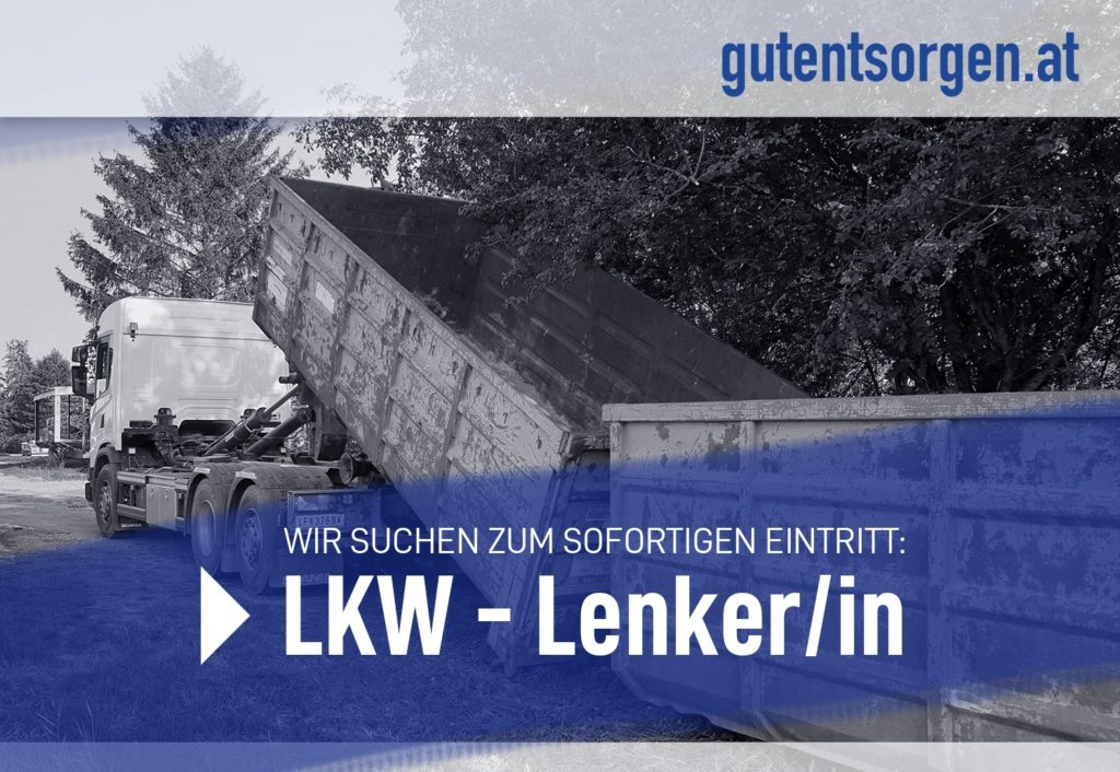 LKW-Lenker Stellenausschreibung
